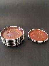 *9* Gustavsberg Swedish Pottery Saucers Coq 60s MCM  Vintage
