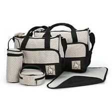 5pcs Changing Bag Baby Nappy Set Diaper Bags Shoulder Handbag Mommy Travel Bag