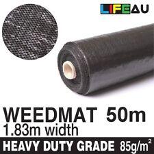 1.83m x 50m Weedmat Weed Control Mat Garden Landscape PP Woven Fabric 85gsm