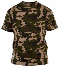 Camouflage Cotton Crew Neck T-Shirts for Men