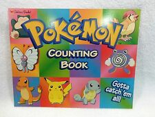 Vintage Pokemon Golden Books Counting Book NOS NEW MINT Condition NEW!!!