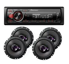 "Pioneer Car Stereo Radio Bluetooth Mp3 + 2 Pair Pioneer 6 3/4"" Car 3way Speakers"