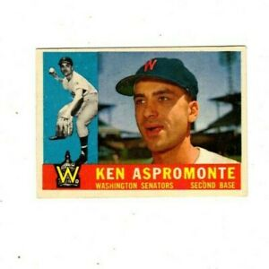 1-1960 Topps #114 Ken Aspromonte (SEE PHOTOS FOR CONDITION)