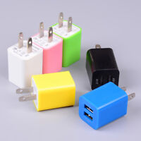 US plug USB charging 2 port wall home travel AC charger adapter for smart phone-