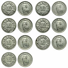 Switzerland - Lot 1/2 FRANC 1937 - 1956  - 7 pieces