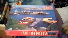 "1993 Milton Bradley Puzzle Verdens Ende Oslofjorden Norway 20"" x 26"" (1000 pc)"