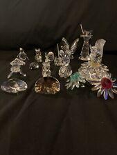 Swarovski Crystal Assorted Figurines (16 Total) Vintage and Retired.12 Marked!