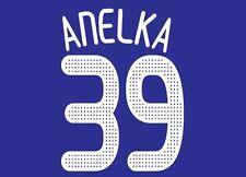 Anelka #39 Chelsea Home 2009-2010 Champions League Football Nameset for shirt