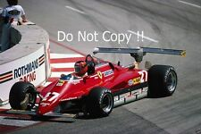Gilles Villeneuve Ferrari 126 C2 USA Grand Prix 1982 Photograph 1