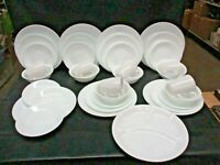 35 Corelle 6 Place Sets White Dinner Lunch Dessert Plates Cereal Bowls Mugs (JB