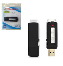 USB MEMORY STICK Rechargeable 8GB 650Hr SPY Voice Recorder Dictaphone black