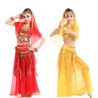Belly Dance Costumes for Kids Girls Children Belly Dance Skirt Bollywood Dancing