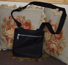 Beautiful Designer SONIA RYKIEL Black Nylon Cross Body Messenger Bag