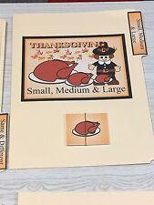 Thanksgiving -  File Folder Game  - Activity Set - Small, Medium & Large Sort