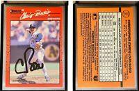 Chris Bosio Signed 1990 Donruss #57 Card Milwaukee Brewers Auto Autograph