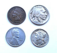 ✯ Mini Collection of Collectible US Coins ✯ Includes Silver! Old US Coin Lot ✯