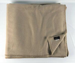 """Pendleton Eco-Wise 100% Wool Blanket Camel Tan 106"""" x 92"""""""