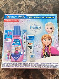 NEW Disney Frozen Anna Elsa CREST ORAL B Limited Edition Toothbrush Bundle Kit