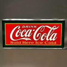 New SLIM LINE vintage style Coca Cola LIGHTED advertising Coke Soda sign 🥤🥤