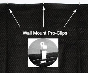 Acoustic Sound Proof Absorption Blanket with PRO CLIPS
