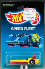 Hot Wheels Tricar X8 5112 Yellow Malaysia Casting Mint On Card 1988