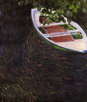 CHENPAT407 fine landscape boat on lake art hand-painted oil painting on canvas