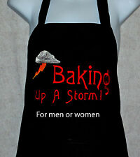 Baker's Apron, Baking Up a Storm Apron, Personalized With Any Name, AGIFT 122