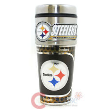 Pittsburgh SteelersTumbler Mug  NFL Football Travel Cup -Metallic Color Logo