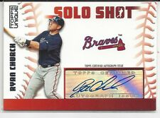 Ryan Church 2009 Topps Unique Solo Shot Auto Card Brave