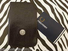 FRED PERRY L9155 Smart phone case en cuir universel vieux iPhone Housse/Étui BNWT
