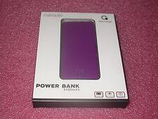 Que Design QUE-5000 Dual 2.4A USB Port 5000mAh Power Bank AC & DC input Purple