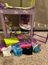 American Girl McKenna Loft Bed With Accessories - Beam, Bar, Mat, Clothes