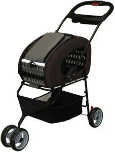 IRIS OHYAMA Adjustable 4Way Pet Stroller Pet Carrier FPC-920 Brown New