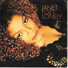 JANET JACKSON I Get Lonely PICTURE SLEEVE 45 rpm record + juke box strip RARE!