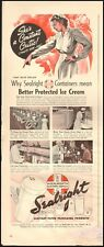 1939 Vintage ad for Sealright Sanitary Service Paper Packaging retro art