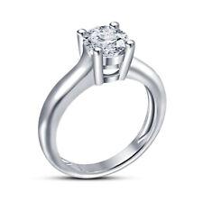 Engagement Ring 14K White Gold Over 1.25 Ct Ladies Round Cut Diamond Wedding