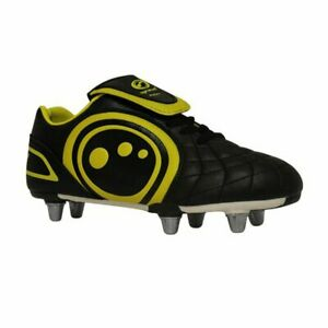 Optimum Eclipse Mens Rugby Boots Black Yellow SG