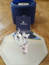 Swarovski Crystal Figurines Kitten With Crystal Ball Rare Mint With Coa