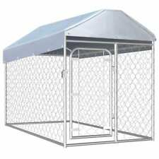 """Outdoor Dog Kennel with Roof 78.7""""x39.4""""x49. 2"""""""