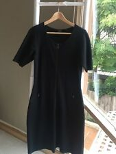Gorgeous •David Lawrence• Little Black Wool Blend Knit Sweater Dress Sz L EUC
