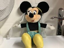 "Vintage Eurodisney Minnie Mouse Juguete Suave Felpa como Jazmín Raro 16"""