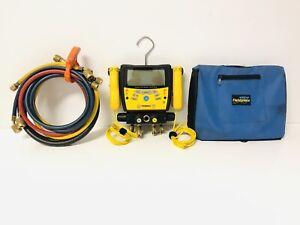 Fieldpiece SMAN460 Wireless 4-Port Digital Manifold w/ Micron Gauge & Hoses