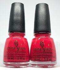 China Glaze Nail Polish * SEAS THE DAY 1304 Creamy Red Lacquer 0.5oz