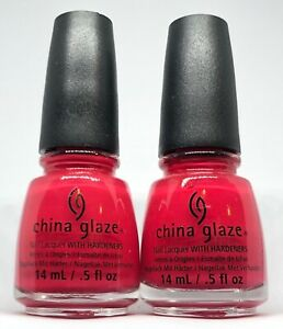 China Glaze Nail Polish * SEAS THE DAY 1304 Creamy Red Lacquer 0.5oz