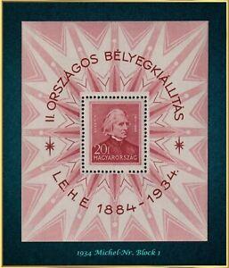 Musik und Philatelie: Ungarn 1934 - xx MNH - Michel-Nr. Block 1  -002