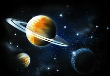 SOLAR SYSTEM PLANETS Airbrushed Black T-shirt NEW DESIGN All Sizes up to 6X