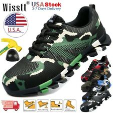 Mens Work Safety Shoes Steel Toe Boots Indestructible Sneakers Hiker Camouflage
