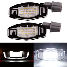 2x 18 Direct LED License Plate Light Fit For Acura TL TSX MDX Honda Civic Accord