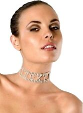 Clear Rhinestone Sexy Choker Necklace Costume Accessory Jewelry Naughty Gift
