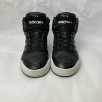 Adidas women's NEO Black Raleigh Mid Size 7 Sneakers Shoes F76268 Leather